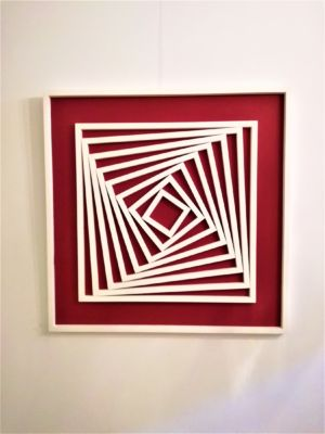 BAS RELIEF ROUGE BLANC